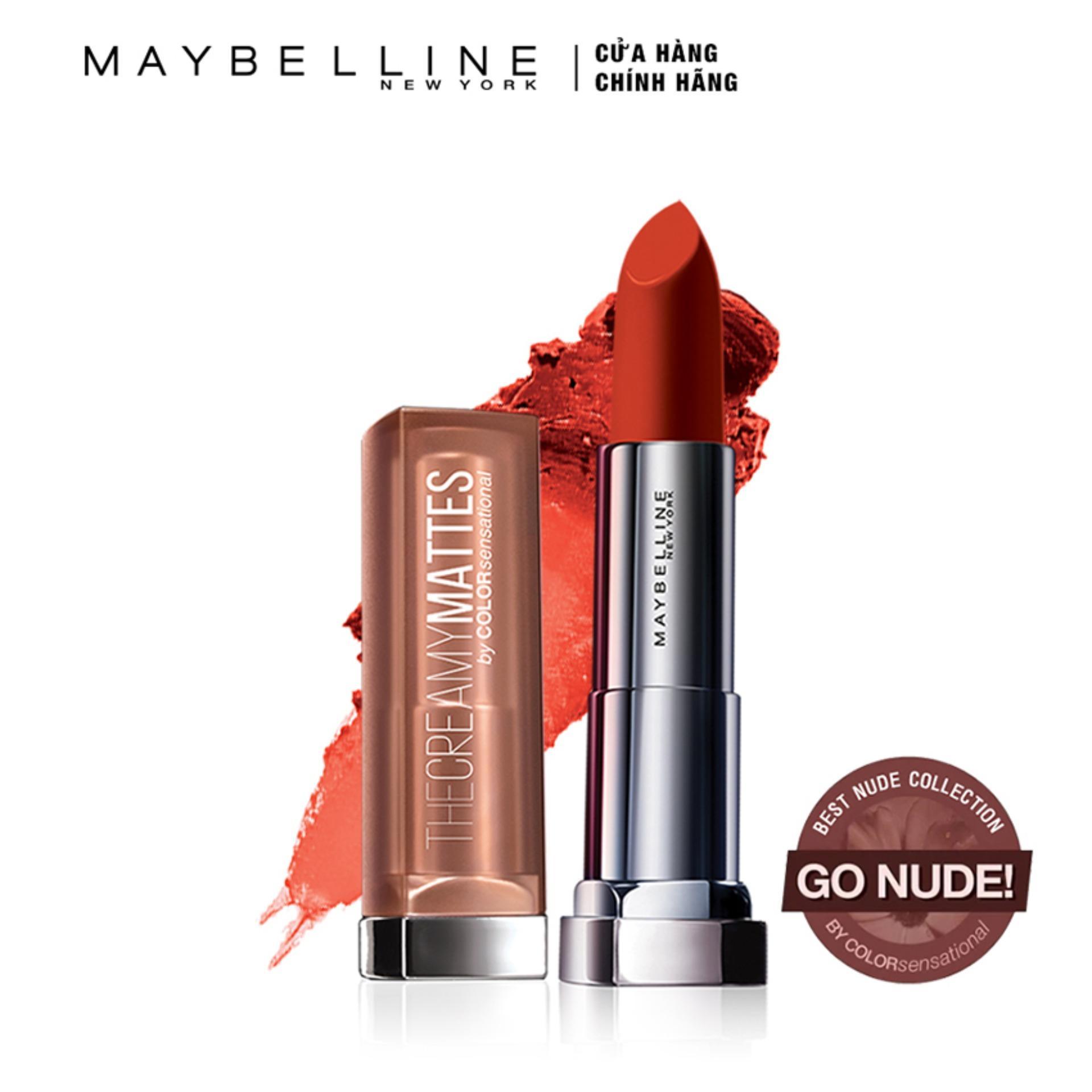Hình ảnh Son lì nịnh môi Maybelline New York Creamy Matte - Nude 09: Chili Nude