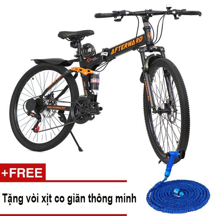 Xe đạp địa hình gấp được Afterward + Tặng ống nước, bơm và khóa chống trộm