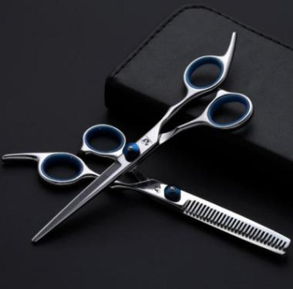 kéo cắt và tỉa tóc tai cầm xanh (Loại tốt) cao cấp