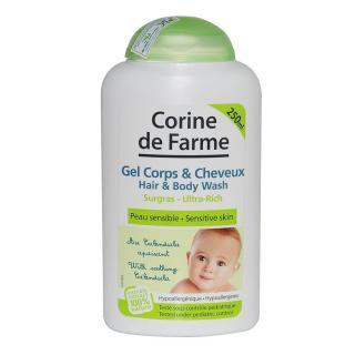Corine De Farme Gel tắm gội cho bé Hair & Body Wash 250ml thumbnail