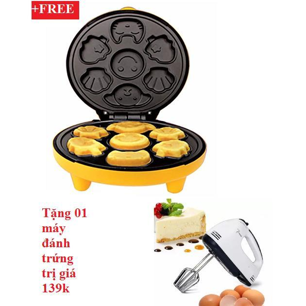 Hình ảnh Máy nướng bánh hình thú+tặng máy đánh trứng