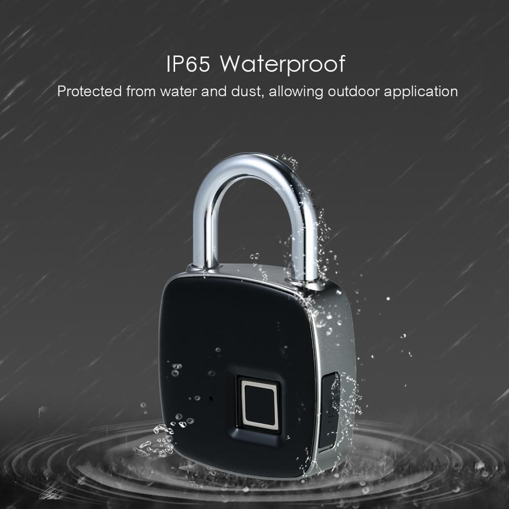 Khóa chống trộm cao cấp  thông minh vân tay sản xuất theo tiêu chuẩn công nghệ cao chống nước chuấn ipx65 an toàn tuyệt đối Maxpro - 01