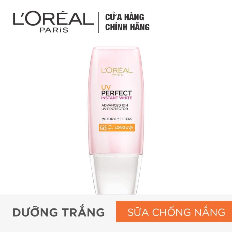 Kem chống nắng dưỡng da trắng sáng tức thì LOréal UV PerfectInstant White SPF50 PA ++++ 30ml nhập khẩu
