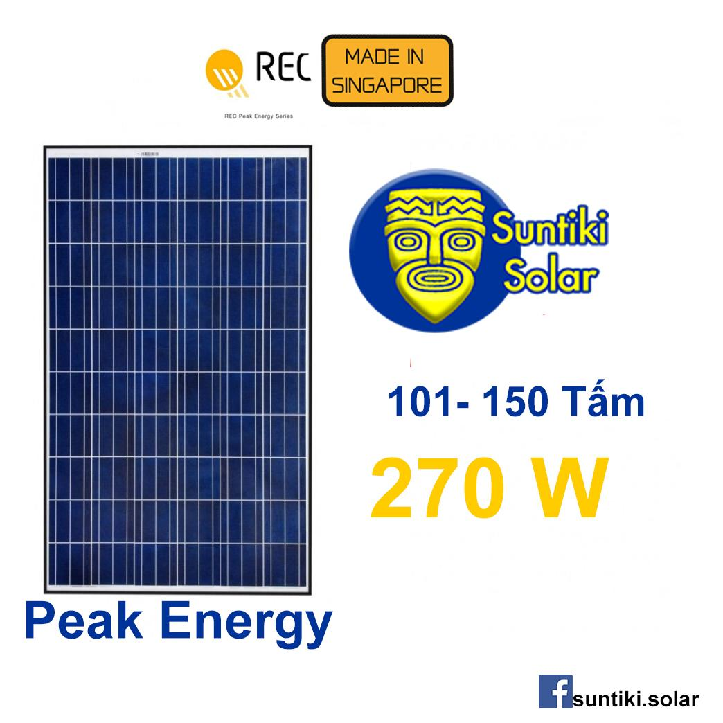 Tấm pin năng lượng mặt trời REC (Solar Panel) 270W (101 - 150 tấm)