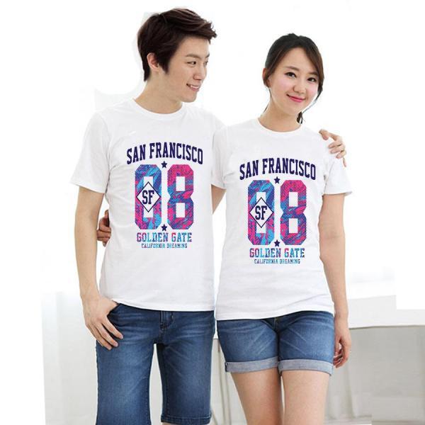 Áo thun cặp đôi in hình 88 Sanfansisco form rộng phong cách hàn quốc
