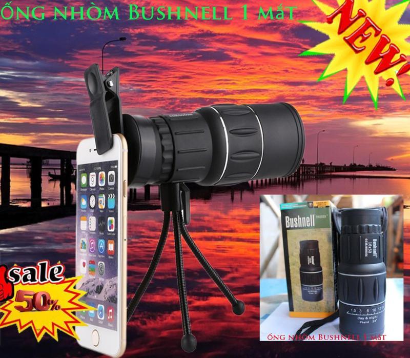 Phụ kiện hỗ trợ chụp ảnh cho điện thoại -  Ống nhòm 1 mắt Bushnell Pro-16x52 hàng Cao cấp nhập khẩu Mỹ Tặng ngay 1 giá đỡ+ 1 kẹp điện thoại + 1 dây đeo tay+1 vải lau kính Phân phối và bảo hành bởi POPPY-KA Chuyên (hàng nhập Mỹ)