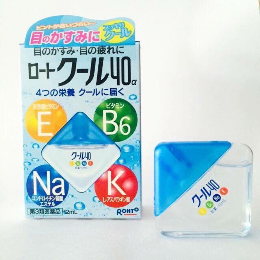 Thuốc nhỏ mắt Rohto Nhật Bản 12ml (màu xanh)