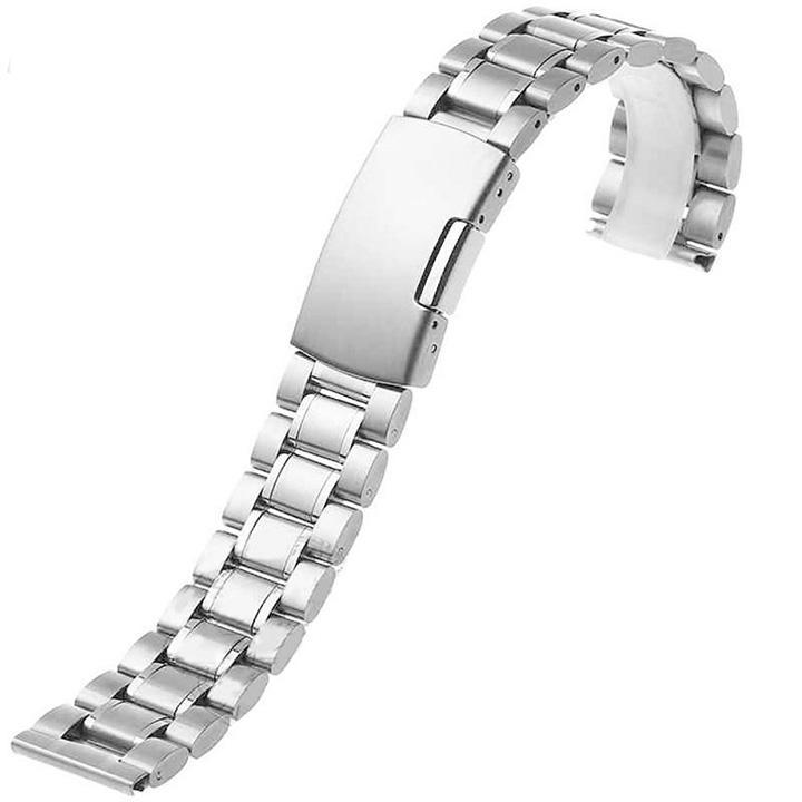 Nơi bán Dây đồng hồ size 18mm đầu thẳng hạt đúc kim loại không gỉ D1606