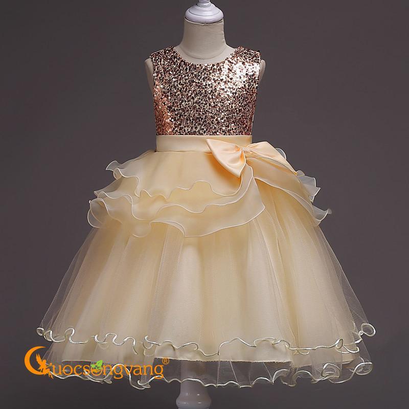 Giá bán Váy đầm thiếu nữ đính cườm váy đầm dự tiệc thiếu nữ GLV103