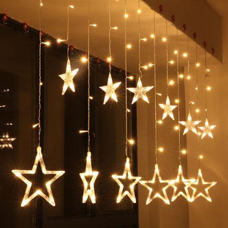 Đèn nháy thả mành hình ngôi sao