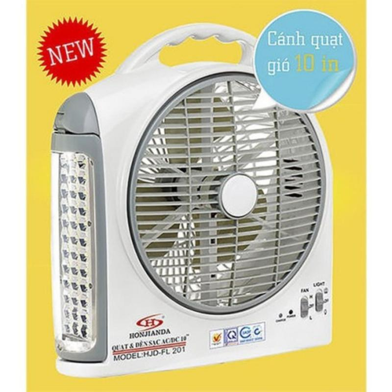 Quạt sạc điện kết hợp đèn led Honjianda HJD-FL201 ( 2 Bình )- Better Shop