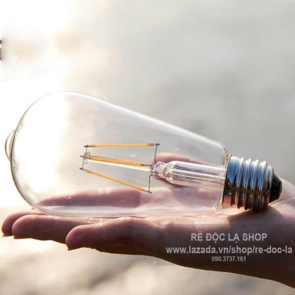 Đèn led Edison 4w trang trí nghệ thuật - Siêu bền, bể hết vỏ bóng đèn vẫn sáng (N007)
