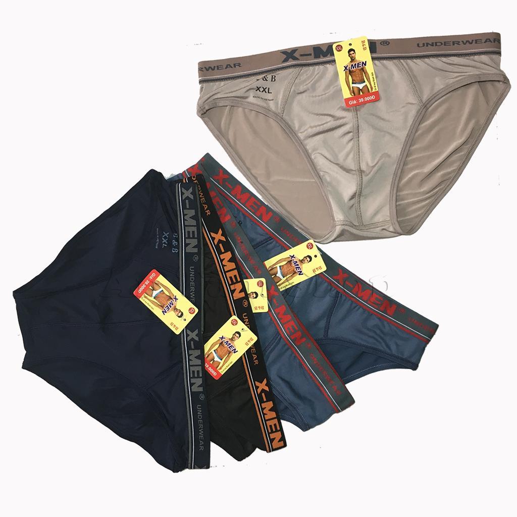 Hộp 05 quần lót tam giác Xmen thun lạnh lưng màu - LN0017x5 Nhật Bản