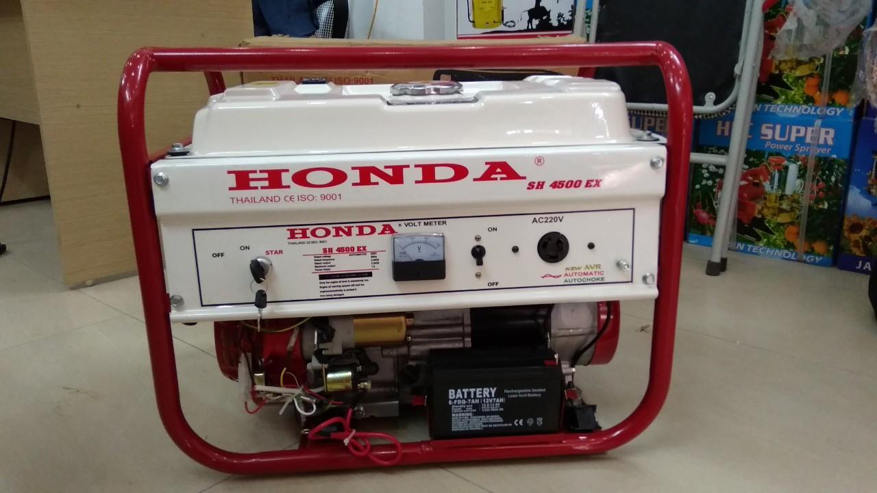 Máy phát điện Honda Thái Lan sh 4500EX chạy xăng,đề nổ