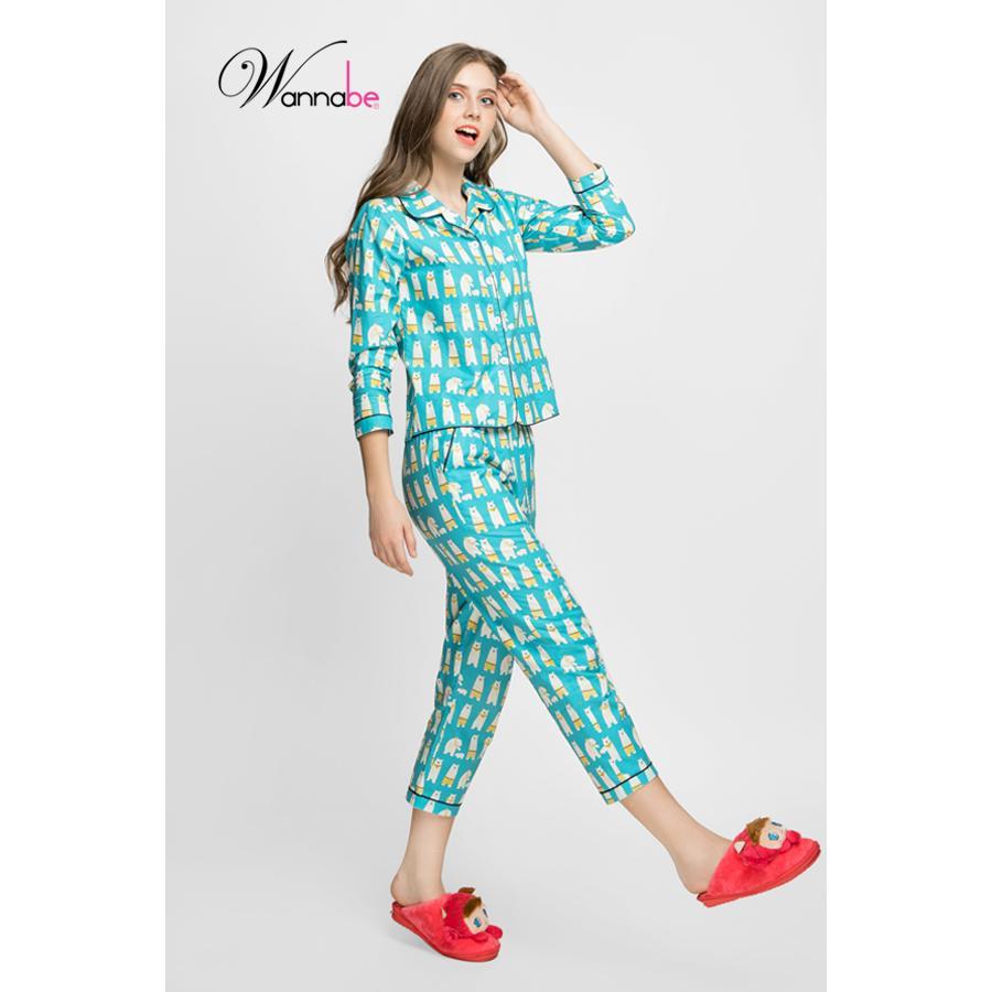 Bán Đồ Bộ Mặc Nha Wannabe Bộ Dai Bd31T Pijama Nữ Vải Cotton Thu Cưng Sieu Đang Yeu Wannabe Trong Hồ Chí Minh