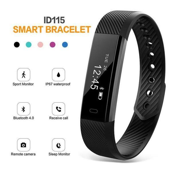 Giá Đồng hồ thông minh, Vòng đeo tay thông minh Cao cấp VeryFit Model ID115 Kết nối Bluetooth