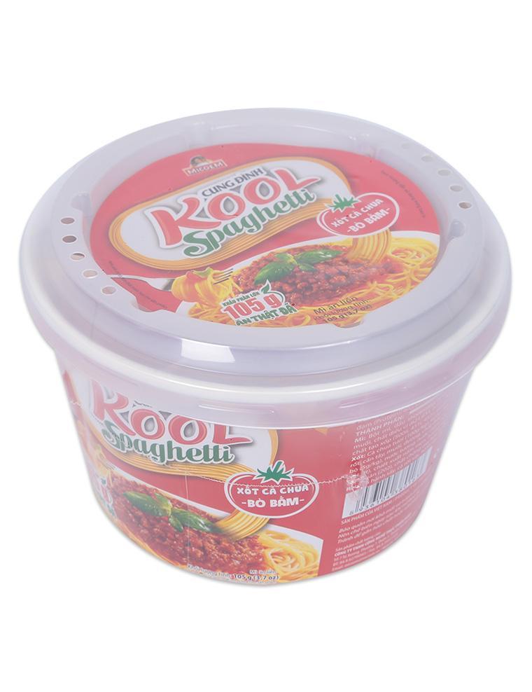 Mì Cung Đình Vị Bò Bầm Sốt Cà Chua Kool Spaghetti Micoem Hộp 105G