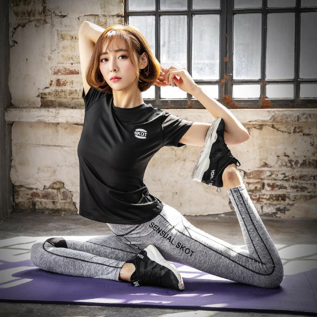 [HCM]Bộ quần áo thể thao nữ Skot (Hàng nhập khẩu) đồ tập gym yoga