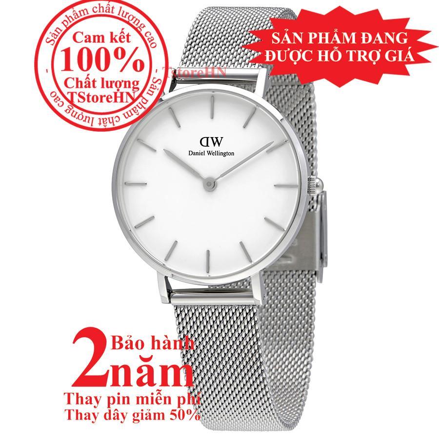 Đồng hồ nữ Daniel Wellington Classic Petite Sterling -size 32mm - Màu trắng bạc (Silver) DW00100164 bán chạy