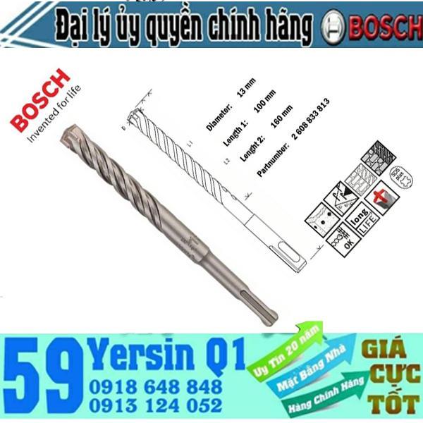 Mũi khoan bê tông Bosch SDS Plus 5X 8x100x160 - 2608833789 (1 cái)