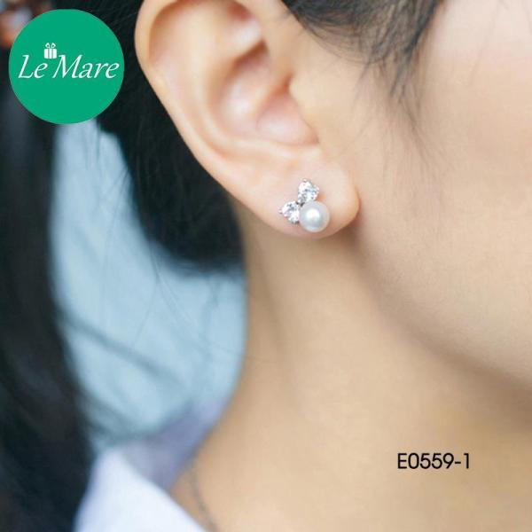 Khuyên tai nơ đính đá - E0559