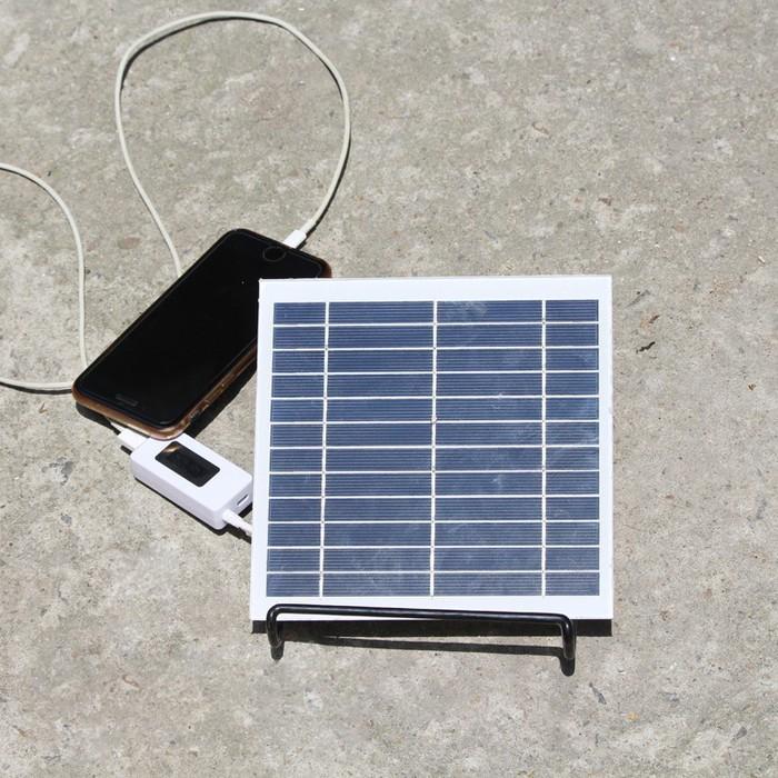 Bán Tấm Pin Năng Lượng Mặt Trời Usb Sạc Điện Thoại Pin Dự Phong Quạt Mini Bong Đen 3 5W 5V Có Thương Hiệu Nguyên