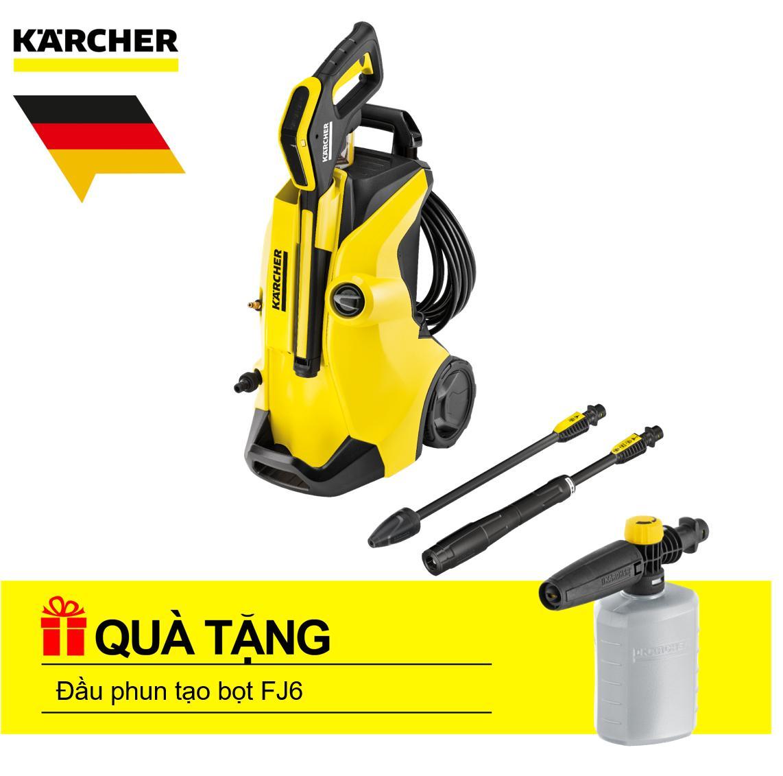 Máy phun rửa áp lực cao  Karcher, K 4 Full Control và phụ kiện + Đầu phun tạo bọt FJ6