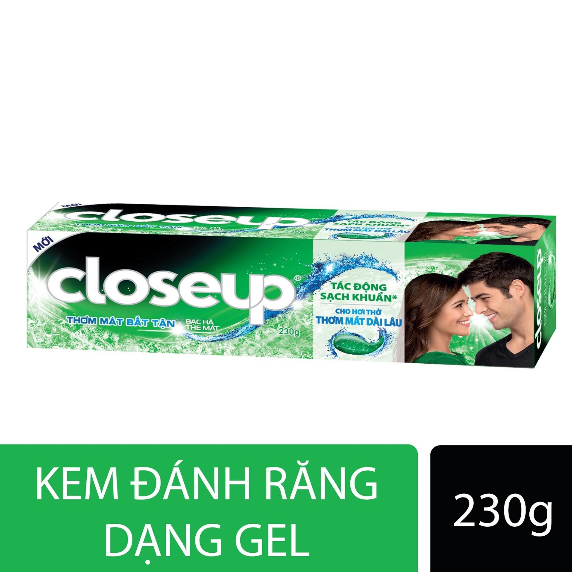 Kem đánh răng dạng GEL Closeup Thơm Mát Bất Tận - Bạc Hà The Mát 230g
