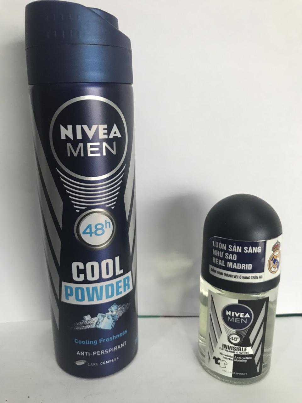 Xịt Khử mừi nivea cool power 150ml tặng lăn khử mùi Nivea men 12ml