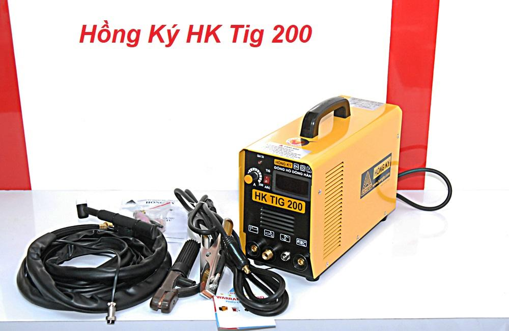 Hình ảnh Máy hàn điện tử INOX chuyên dụng, 2 chức năng hàn que (1.6-3.2mm) và hàn khí Argon (Tig), AC 180-240V; Hồng Ký HK TIG 200