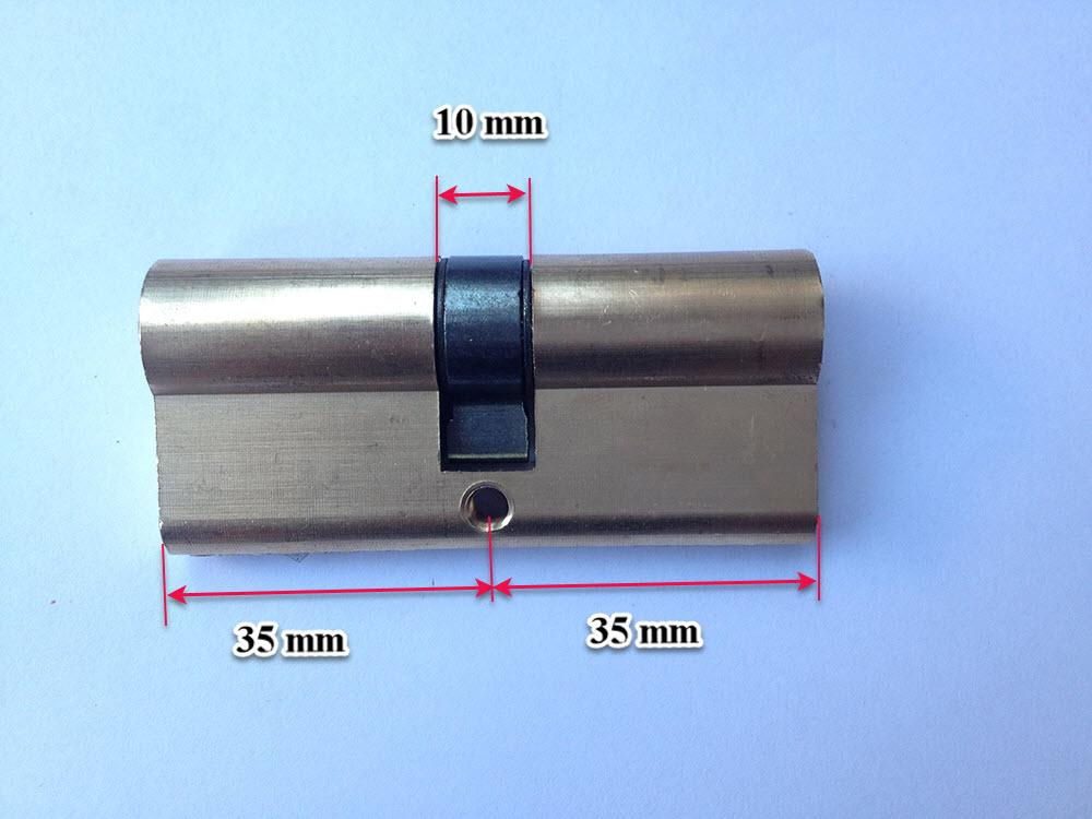 Ruột khóa cửa kích thước thông dụng 70 mm, 2 đầu dùng chìa khóa , chìa khóa 8 bi