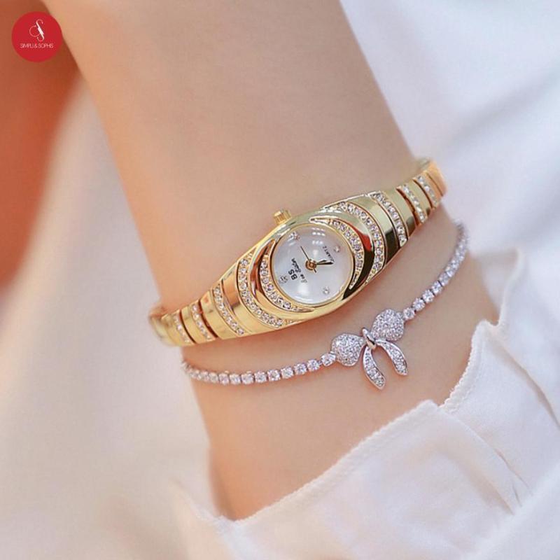 Nơi bán Đồng hồ nữ Bee Sister 1540 nhỏ xinh cao cấp 18mm (Vàng/ Bạc) + Tặng hộp đựng đồng hồ thời trang & Pin