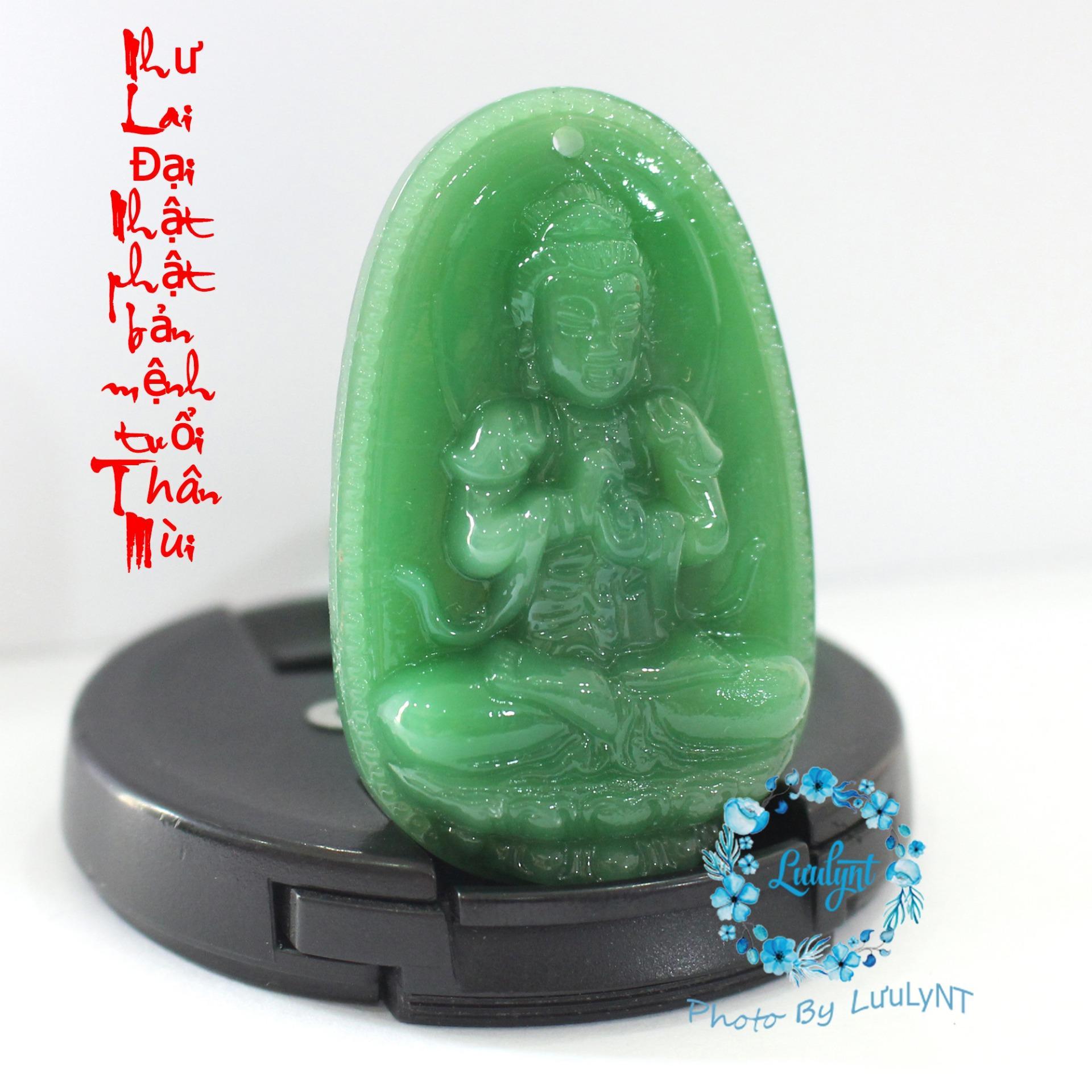 Dây chuyền Phật Đại Nhật Như Lai cao cấp - Phật bản mệnh người tuổi Mùi, Thân