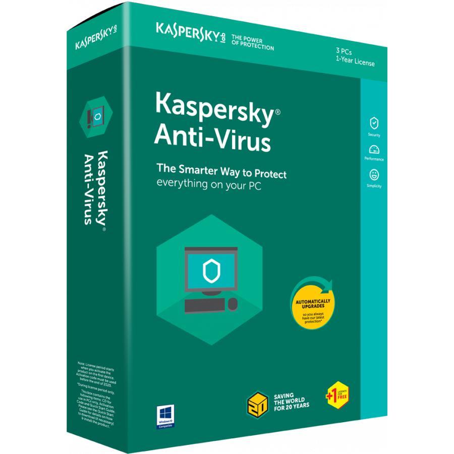 Hình ảnh Phần mềm Kaspersky Antivirus 1PC 2018