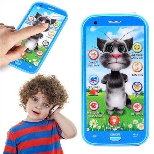 Hình ảnh Điện thoại đồ chơi Mèo Tom cảm ứng cho bé học tập