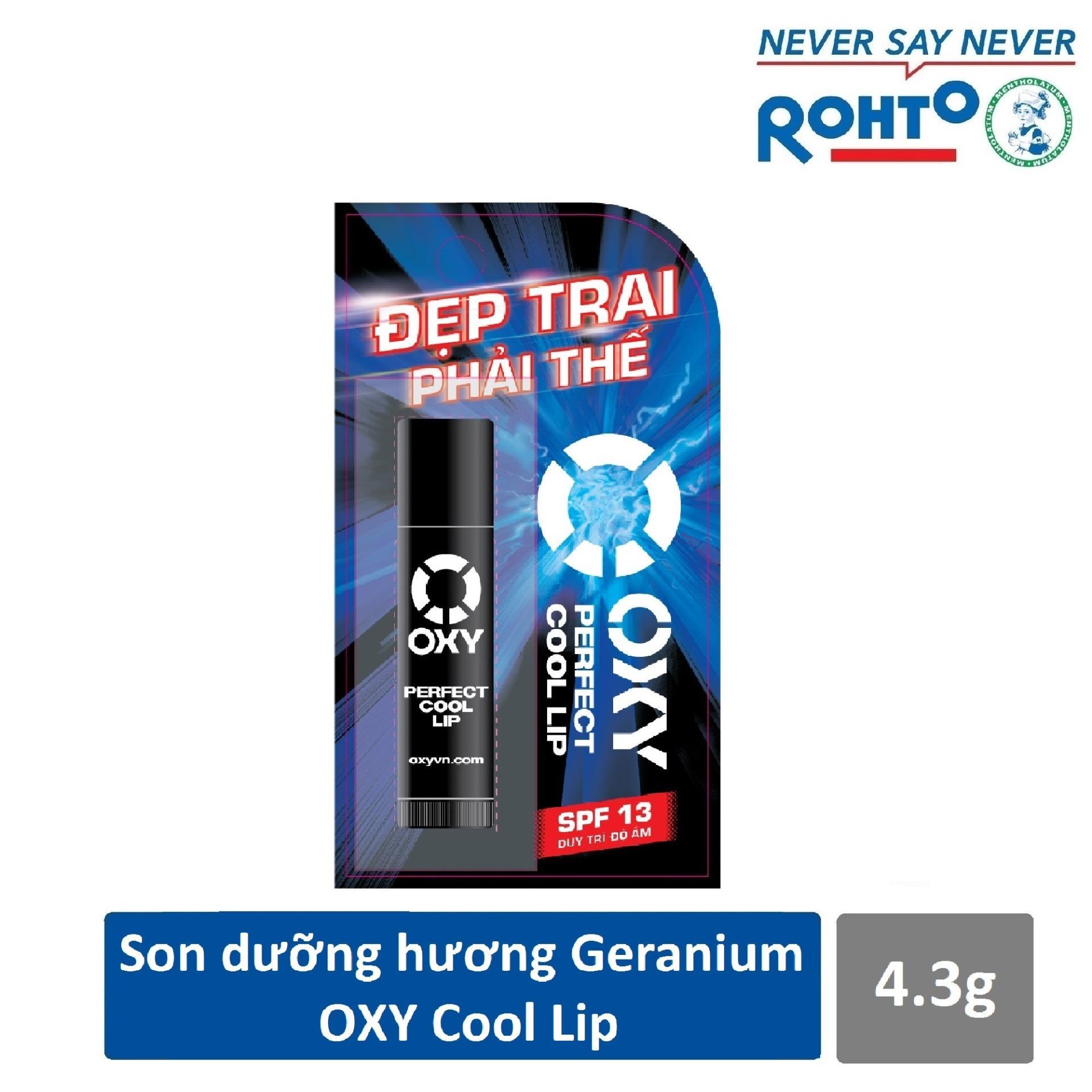 Son dưỡng dành cho nam Oxy Perfect Cool hương Geranium 4.3g