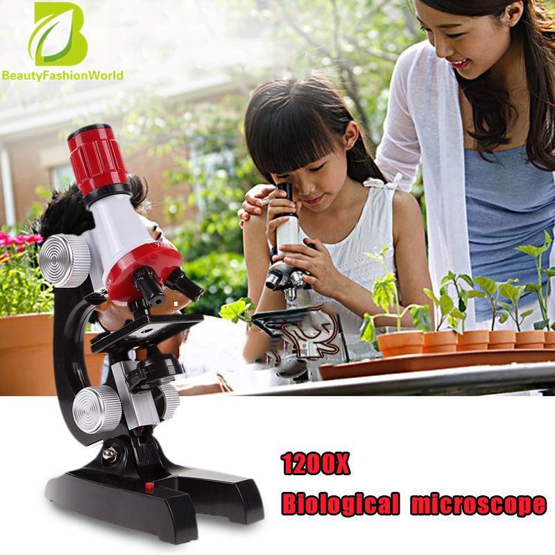 Hình ảnh Bộ Kit kính hiển vi Phòng LED 100X-1200X Nhà Trường Giáo Dục Đồ Chơi Quà Tặng Cho Trẻ Em-quốc tế