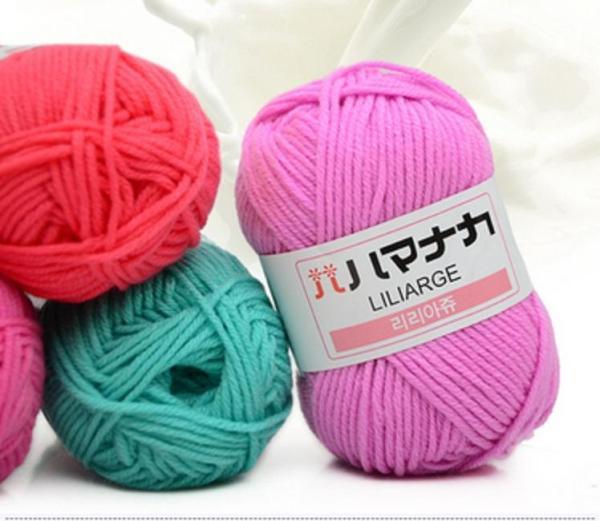 Len Milk Hàn - Chuyên dòng Baby Sợi len mềm mịn, màu sắc cực kì đẹp, dùng để đan hoặc móc khăn, áo, mũ, giày len,...