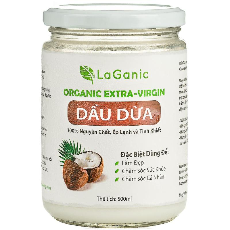Dầu dừa nguyên chất LaGanic 500ml nhập khẩu