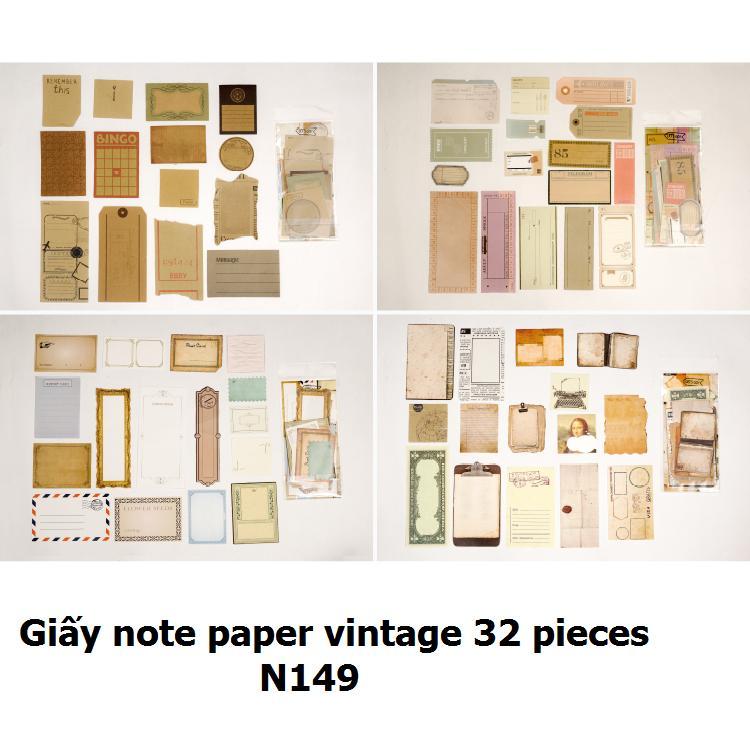 Mua Giấy note paper vintage 32 pieces_N149