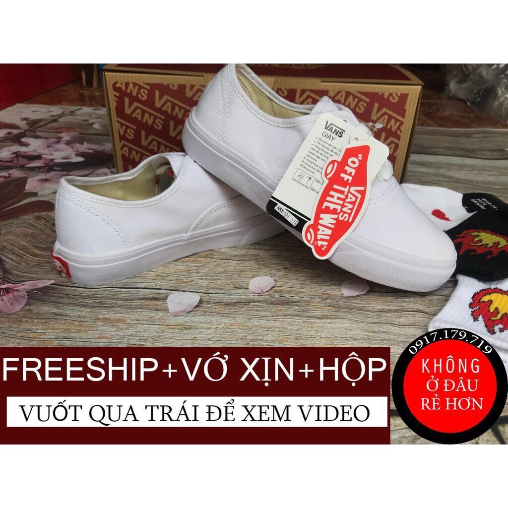 Hình ảnh [FREESHIP+TẶNG VỚ+HỘP] Giày Vans Classic Full Trắng Nam Nữ Bao Đẹp