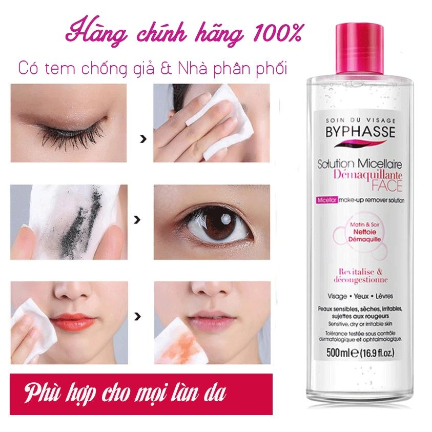 Nước tẩy trang Byphasse Micellar Make-up Remover Solution 500ml‎ - Nuoc tay trang Byphase 500ml