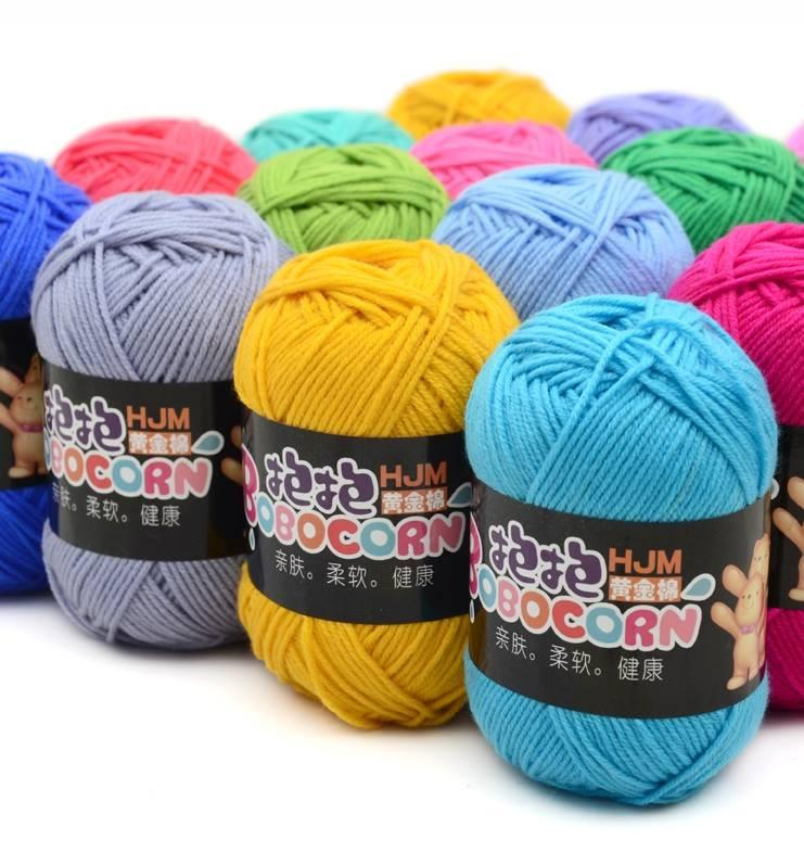 Len Milk Cotton BOBO cao cấp - Len sợi đan khăn, len đan áo