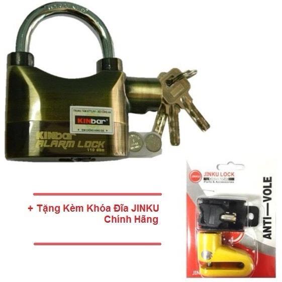 Ổ Khóa Chống Trộm KinBar Đồng (Có Tem) + Tặng Kèm Ổ Khóa Đĩa JinKu (Có Tem)