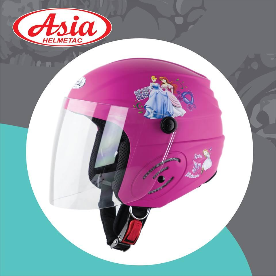 Giá bán Nón bảo hiểm trẻ em ASIA 134S Hồng Bóng Bé gái