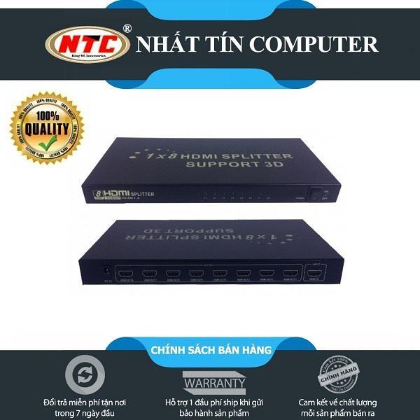 Bảng giá Bộ chia cổng HDMI từ 1 ra 8 FJGEAR HD-108 hỗ trợ chất lượng FullHD /3D (Đen) - Nhất Tín Computer Phong Vũ