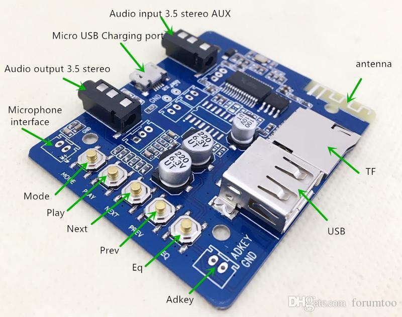 Hình ảnh Mạch Bluetooth 4.0 (có giải mã thẻ TF và USB)