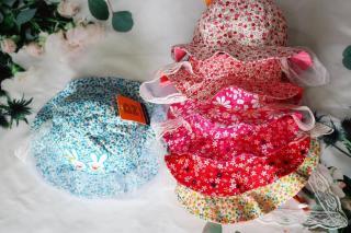 Nón vành có khăn voanh chống bụi Duy Ngọc(Cho bé trai và gái từ 6-15 tháng tuổi) thumbnail