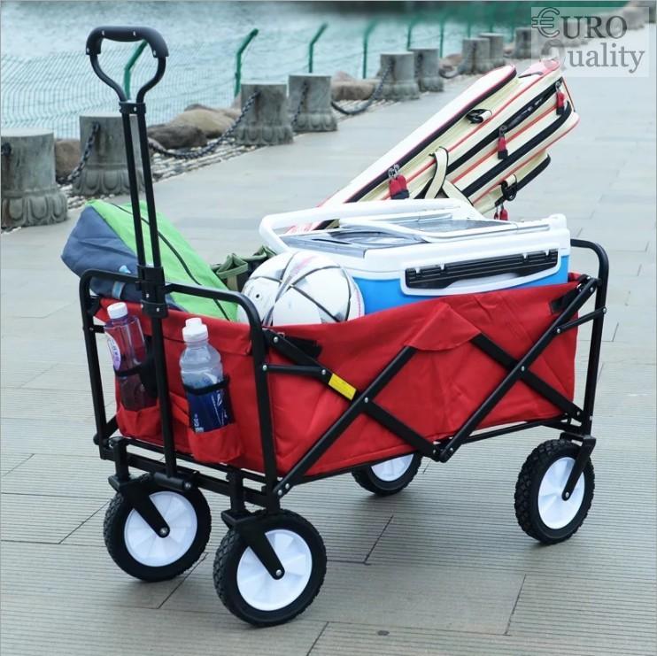Xe đẩy hành lý xếp gọn 260L EuroQuality (Đỏ, Dark Blue) - Euro Quality