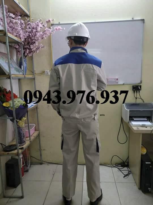 quần áo bảo hộ phối xanh size 7